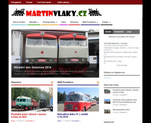 Vzhled stránek používaný od listopadu 2013 do února 2015
